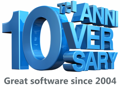 10th Anniversary. Great software since 2004.